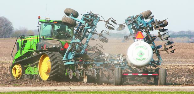 A tractor is driven last week just north of Geneva.
