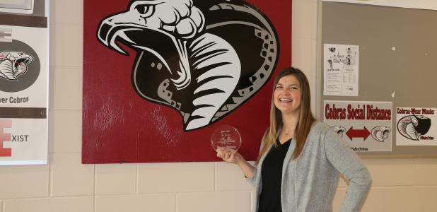 Monica Maloney, a middle school teacher at Triton, has been named the district's Teacher of the Year.