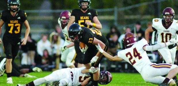 byron's No. 23, Tyler Fox, was tripped up during last week's Homecoming Game against the Albert Lea Tigers.