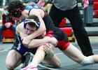 KM junior, Logan Vaughan, ranked #1 in state at 145 in Class AA, defeated Lucas Jagodzinske who is currently ranked #3 in state at 138 for Class AA. Vaughan won late in the third period by decision, 11-5.