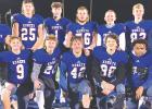 Kasson-Mantorville honored their senior football players and cheerleaders at the game on Wednesday, Nov. 11. Seniors included, front row: Cassidy Cowden, Kyler Kujath, Mitchell Nel- son, Jackson Kennedy, Logan Leth, Marquise Sims, Mazy Gilbertson; back row: Keyan Smith, Jakob Aarsvold, Jace Bigelow, Logan Laures, Aaron Winkle, Caleb Wright, Aiden Hugeback.
