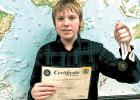 Gunnar Ramberg will represent Triton Middle School at the Minnesota National Geographic State Bee.